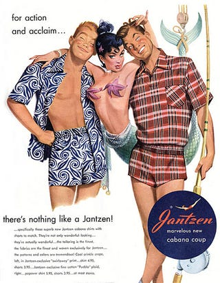 Illustration for article titled The Reality Behind Mad Men's Vintage Jantzen Swimsuit Ads