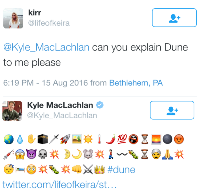 Illustration for article titled Fan ask Kyle Maclachlan to explain Dune