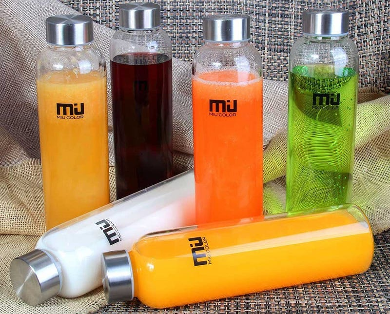 MIU COLOR 18oz Glass Water Bottle 6-pack, $26 with code 6PACKMIU