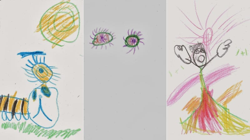 Illustration for article titled Five-Year-Old's Drawings of 80s Songs Are Totally Awesome