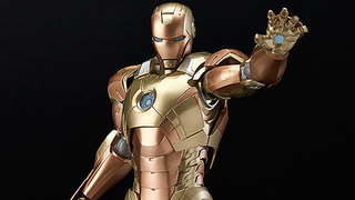 Illustration for article titled Iron Man's Golden Moment Is Now A Wonderful Figma Figure