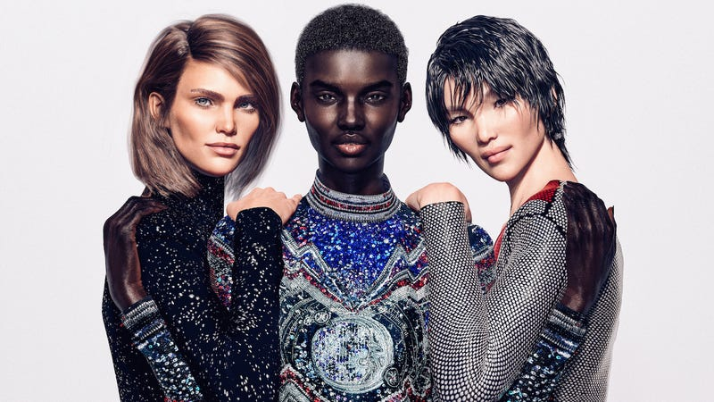 Illustration for article titled Balmain: We're Inclusive, So Inclusive Our CGI Models Are Not White