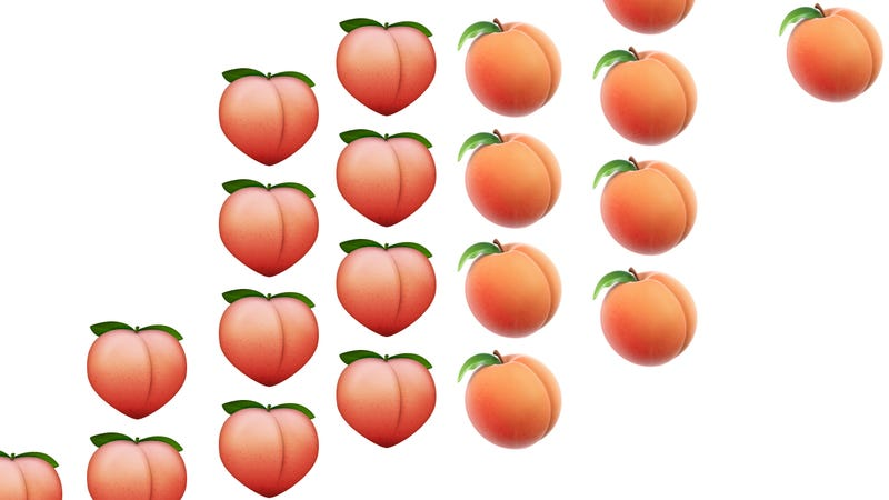 Illustration for article titled Peach Emoji Restored to Natural Beauty After Outcry from Ass Activists