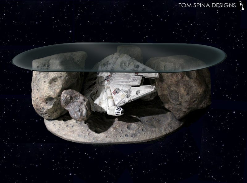 Illustration for article titled I Need This Millennium Falcon Asteroid Field Coffee Table In My Life