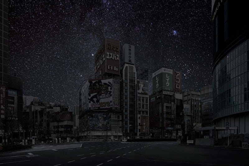 Illustration for article titled Stunning pictures imagine the starry night skies over cities after a global blackout