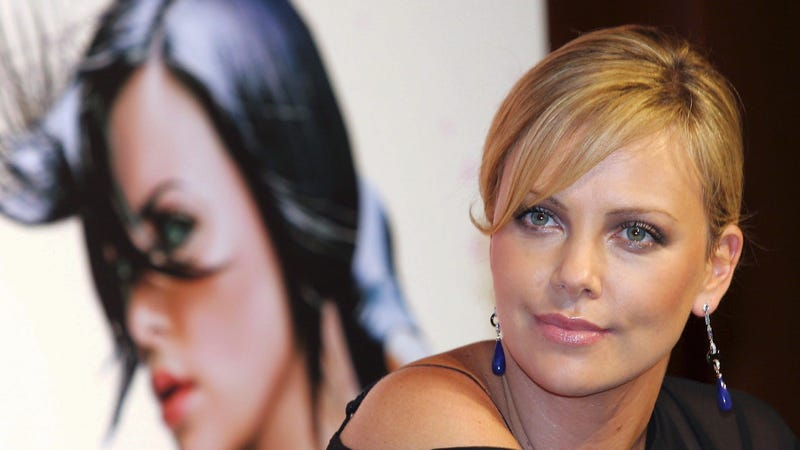 Charlize Theron, promoting the 2005 live-action Aeon Flux movie.