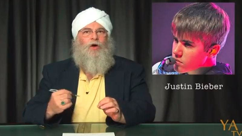 """Illustration for article titled A yogi numerologist and other """"experts"""" have some thoughts on Justin Bieber"""