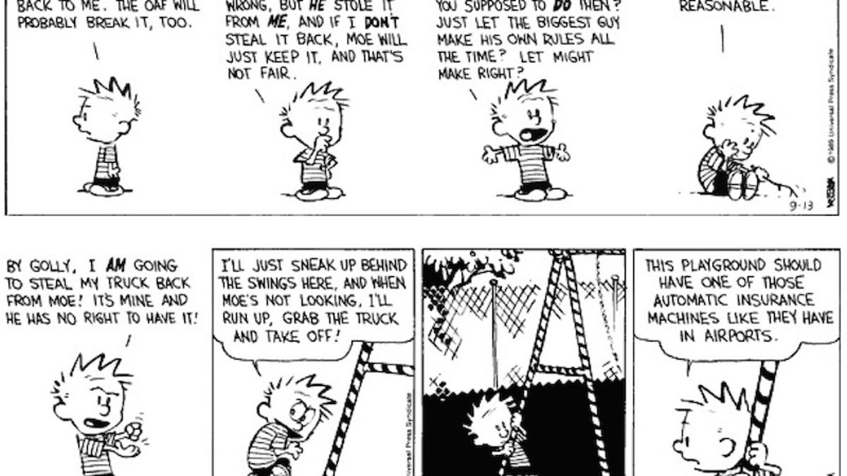 A String Of Upsetting Calvin Hobbes Strips Told A Bold Story About