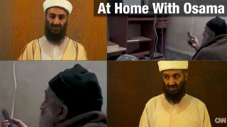 Illustration for article titled 'Home Videos' Show Bin Laden Watching Himself on TV