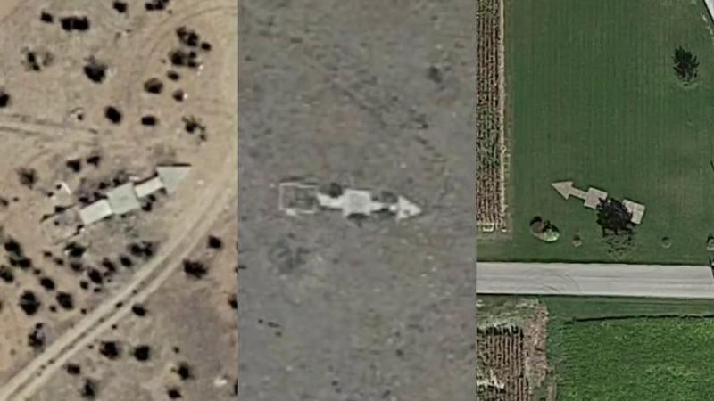 Illustration for article titled Por qué hay cientos de flechas de cemento escondidas por toda la geografía de Estados Unidos