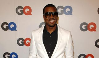 Kanye West arrives at GQ magazine's 50th-year celebration party at Cedar Lake in New York City on Sept. 18, 2007.Rob Loud/Getty Images