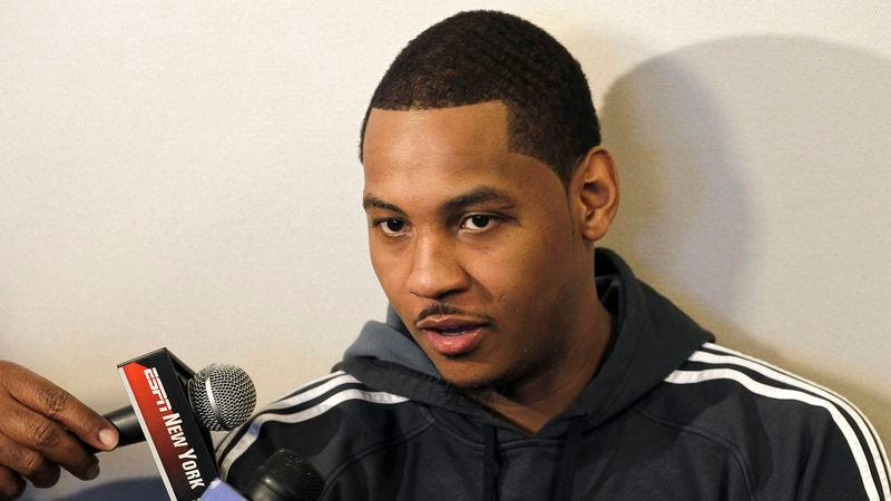 Illustration for article titled Carmelo Anthony Confident He Can Still Help Contender Flame Out In First Round