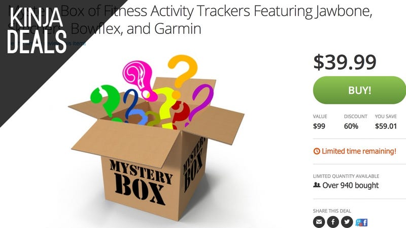Illustration for article titled Roll the Dice with Groupon's $36 Fitness Tracking Mystery Box