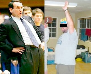 Illustration for article titled Coach K Has No Sense Of Humor, Part 5,643: A Firsthand Account From A Man Named Bubba