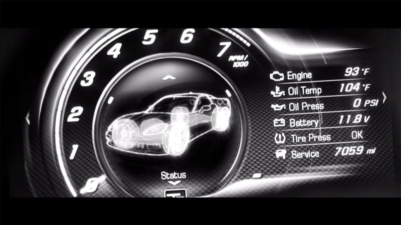 Illustration for article titled Check Out The 2014 Corvette's Digital Instruments