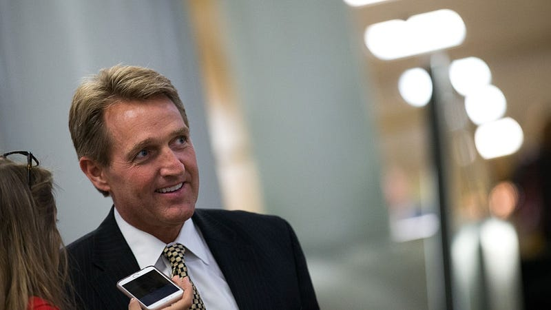 Sen. Jeff Flake (R-AZ), who introduced the bill in the Senate last week. Image: Getty.