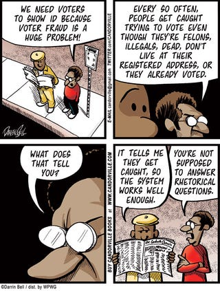 Illustration for article titled Candorville Comic: Voter Fraud