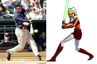 Illustration for article titled David Eckstein Is Married To A Jedi