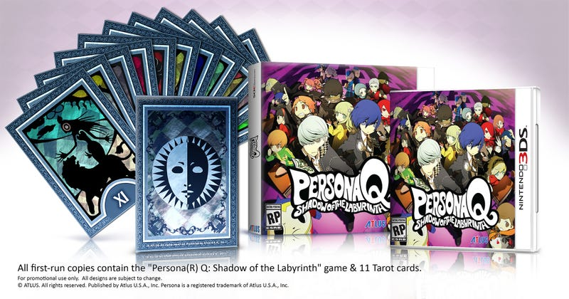 Illustration for article titled Every First-Run Copy Of Persona Q Comes With Half A Set Of Cards
