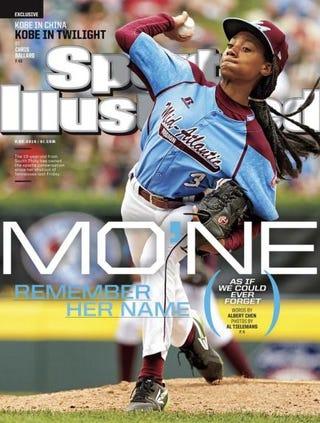 Mo'Ne Davis on the cover of Sports IllustratedSports Illustrated screenshot