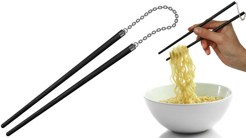 Illustration for article titled Protect Your Last Piece Of Sushi With Nunchaku Chopsticks