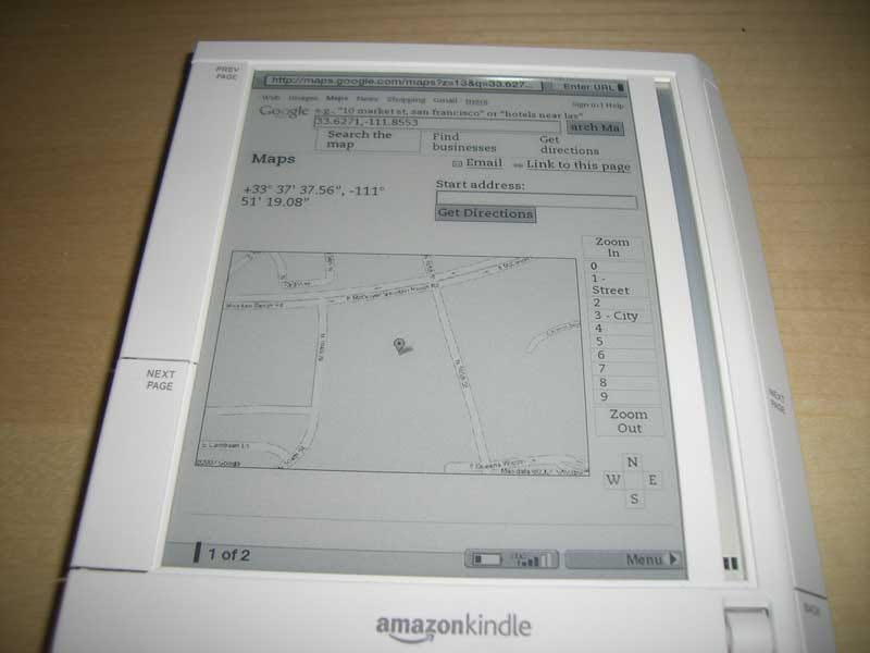 Illustration for article titled Amazon Kindle Has Secrets: Faux-GPS Google Maps, Minesweeper, and More