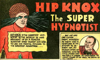 Illustration for article titled 5 reasons why Hip Knox the Super Hypnotist is the worst superhero of all time