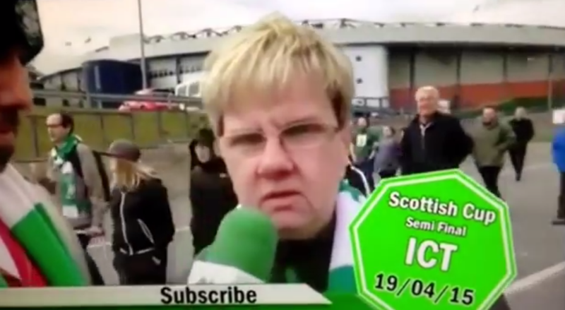 Illustration for article titled Old Lady Celtic Fan Has Harsh, Concise Words Of Criticism For Her Team