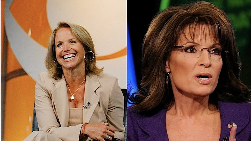 Illustration for article titled Katie Couric and Sarah Palin Will Have a Morning Show Deathmatch this Week