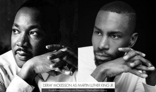 Martin Luther King Jr. portrayed by activist DeRay MckessonJerome A. Shaw