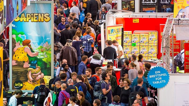 This year's SPIEL gaming festival attracted a record 162,000 attendees. Photo: Merz-Verlag.