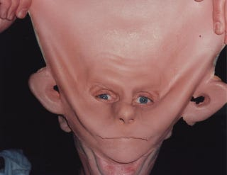Illustration for article titled Odo's Half-Removed Face Is Creepier Than Anything He Did on Star Trek