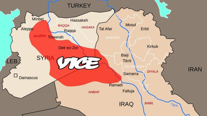 stunning map shows just how much of iraq and syria vice now controls
