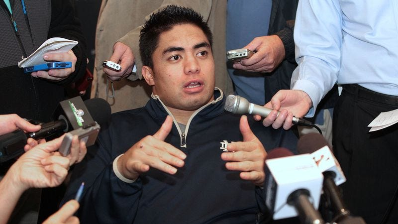 Illustration for article titled Manti Te'o Informed He'll Go First Overall To Nebraska Pioneers