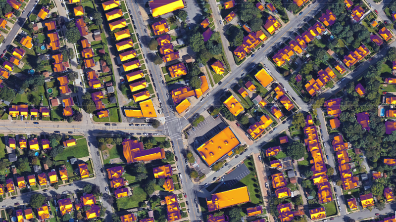 Imagine solar panels on all those yellow roofs!
