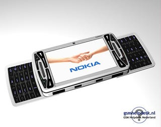 Illustration for article titled Nokia N96 Rendering Looks Fake, But Interesting