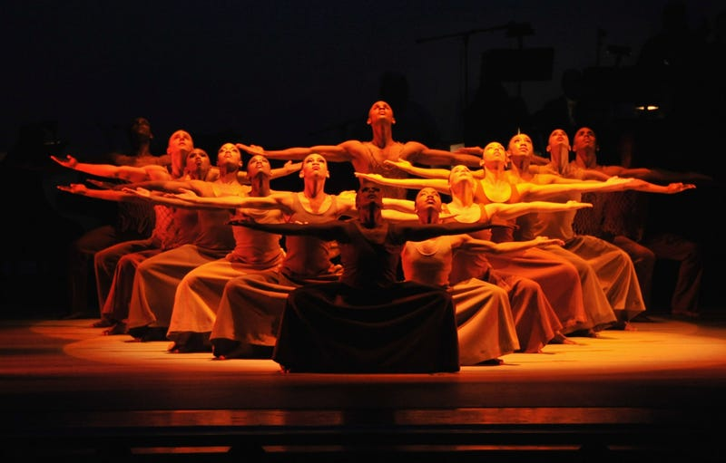 Alvin Ailey dancers perform at the 2011 Alvin Ailey American Dance Theater's opening night gala  on November 30, 2011 in New York City.