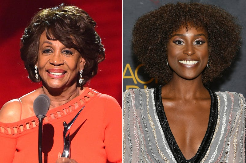 Maxine Waters (Jason Kempin/Getty Images); Issa Rae (Dia Dipasupil/Getty Images for BET)