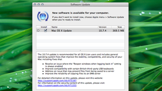 Illustration for article titled Mac OS 10.7.4 Update Is Out; Fixes Bugs with Resume, the Finder, and More