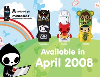 Illustration for article titled Cooking Hell Kitties and Pirates: Tokidoki Mimobot Artist Series
