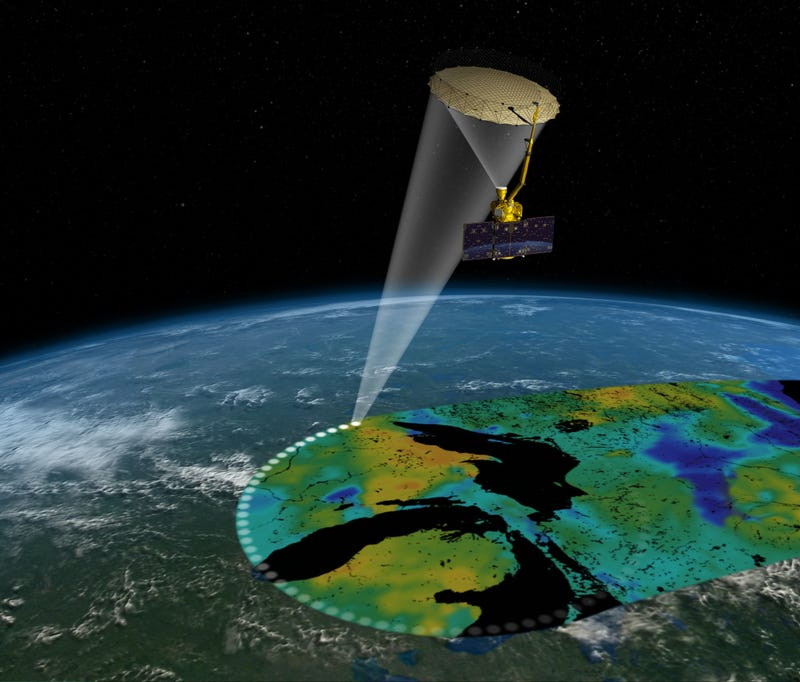 Illustration for article titled NASA's Soil Moisture Satellite Forges on Without its Radar