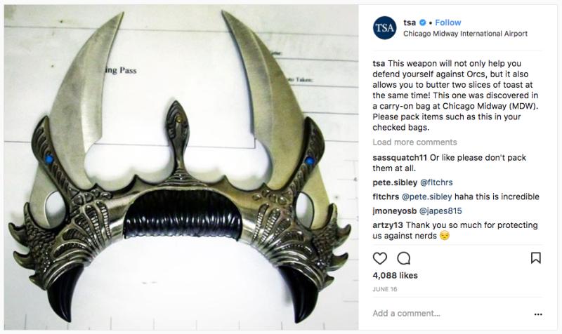 Estas son las cosas más extrañas y divertidas confiscadas en los aeropuertos de Estados Unidos en 2017