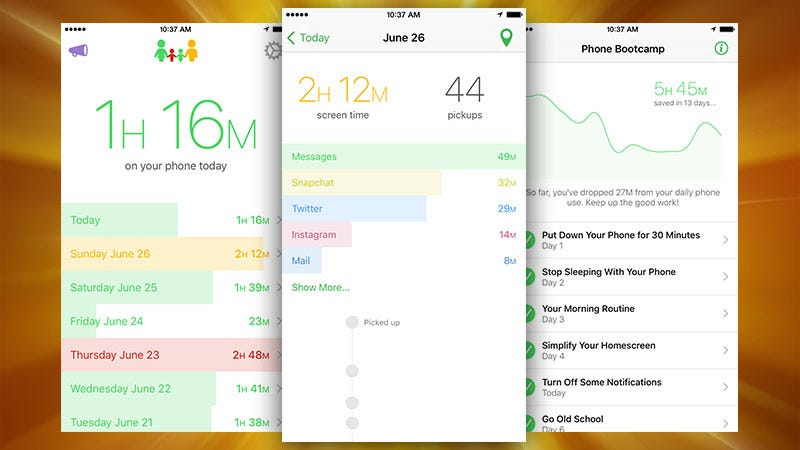 Illustration for article titled Moment, the iPhone App That Tracks Your Usage, Now Displays How Much Time You're In Apps