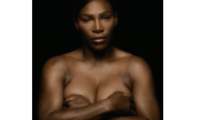 Illustration for article titled 'I Touch Myself': Serena Williams' New Breast Cancer PSA Takes Her Out of Her Comfort Zone