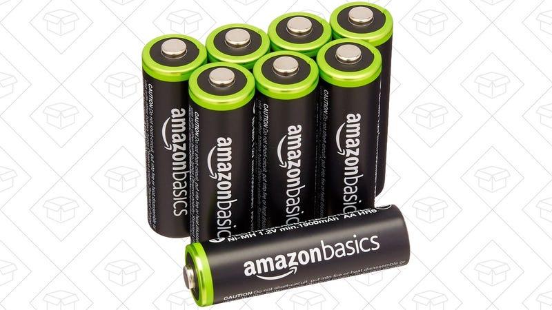 AmazonBasics AA Rechargeable 8-Pack   $12   Amazon
