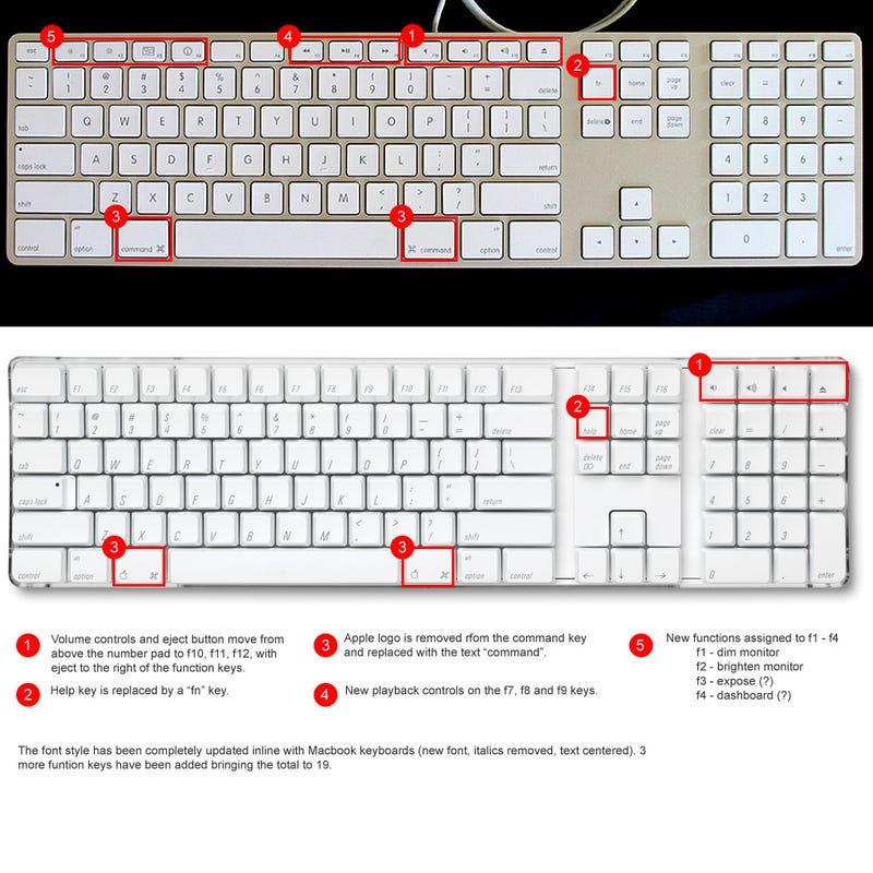 "Illustration for article titled ""New"" Apple Keyboard Vs. ""Old"" Version"