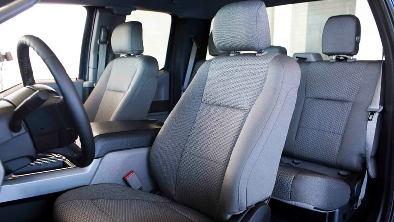 Illustration for article titled 2015 Ford F-150's 'Cloth' Seats Are Actually Made From Recycled Bottles