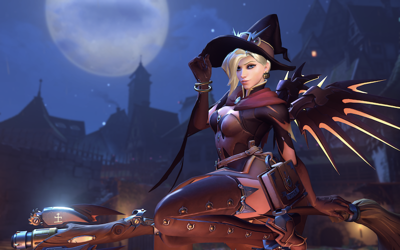 Overwatch's Halloween Mercy