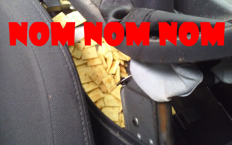 Illustration for article titled My car has a Cheez-It problem, apparently