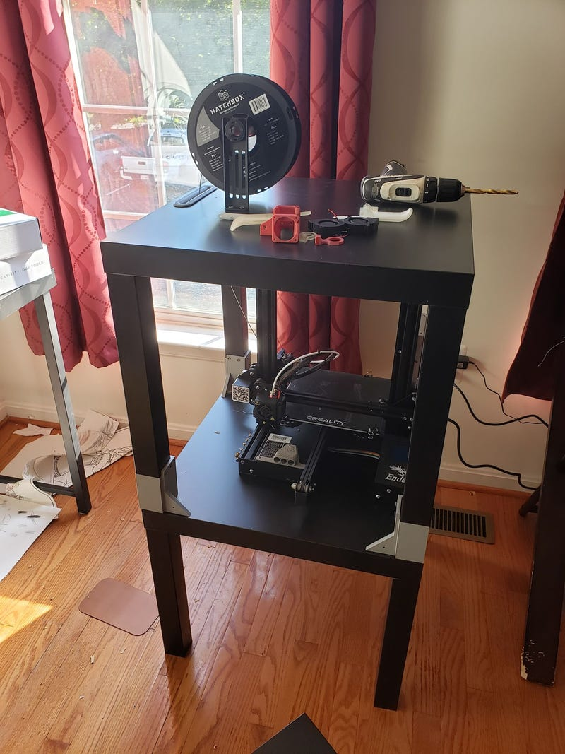 Illustration for article titled 3D printer setup is coming along nicely